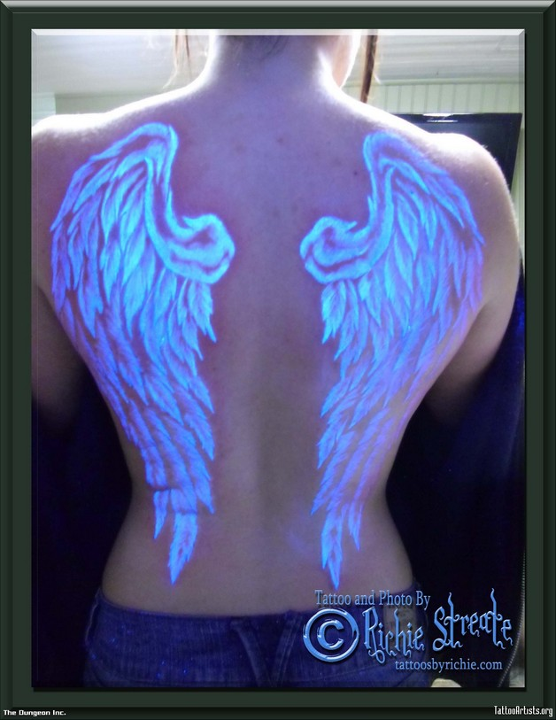 extreme angel wings tattoo photo - 1