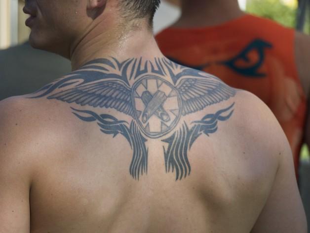 extreme full back tattoo design photo - 1