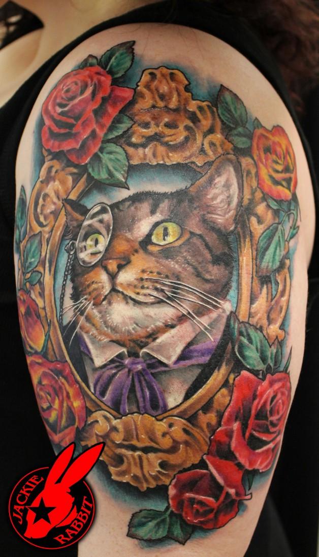 fabulous dog portrait tattoo photo - 1