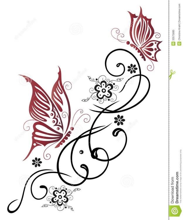 feminine flowers tattoo on hip photo - 1