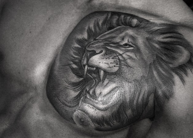 feminine lion tattoo designs photo - 1