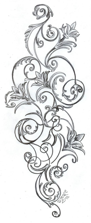 Peacock flower tattoo designs - Peacock Flower Tattoo Designs 28