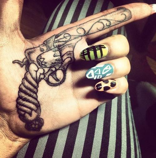 fresh tribal cheshire cat tattoo design photo - 2