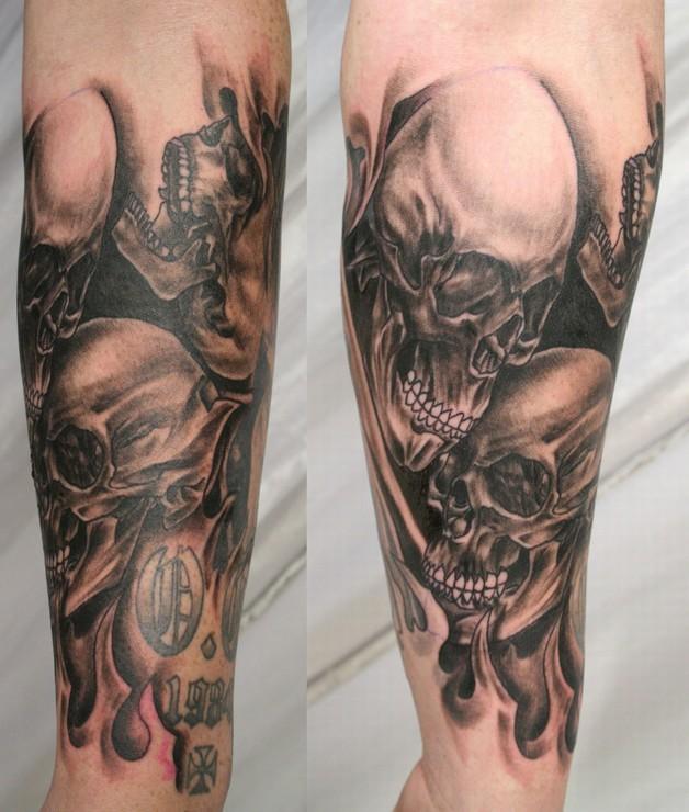 full sleeve extreme tattoo design photo - 1