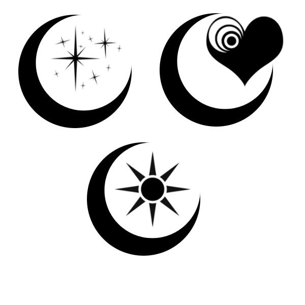 glowing sun moon and stars tattoos photo - 1