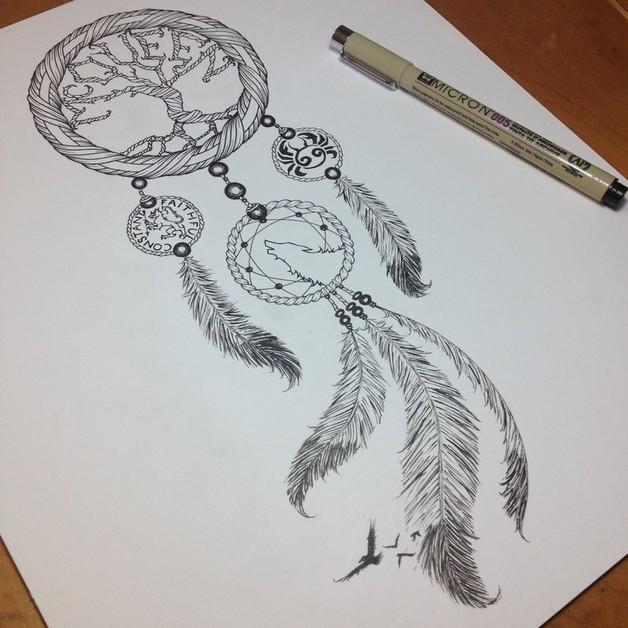 Good Dream Catcher Tattoo Design