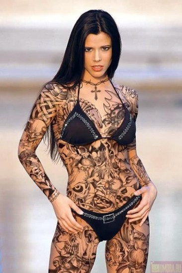 gorgeous bottle tattoo with flowers photo - 2