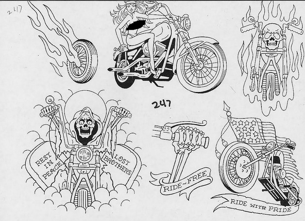 harley davidson dream catcher tattoo design photo - 1