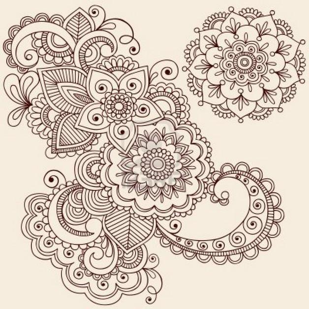 henna sunflower tattoos on feet photo - 1