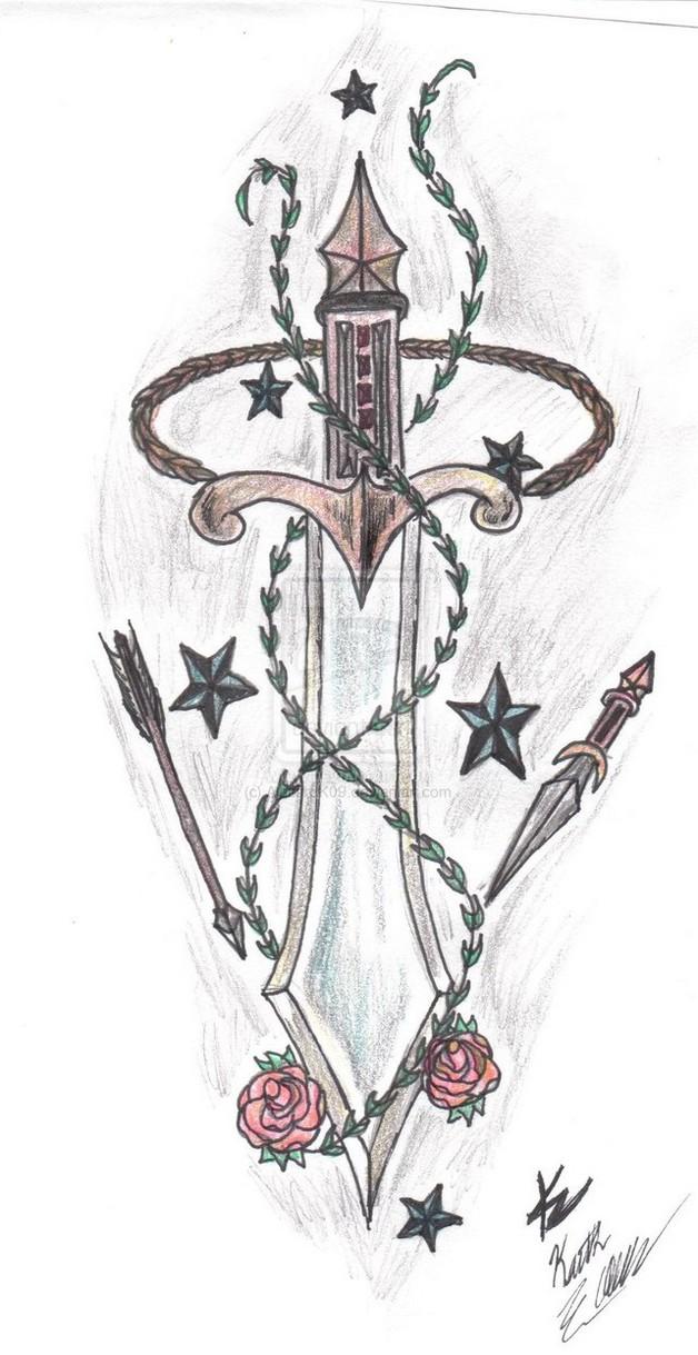 horse n nautical stars tattoo drawing photo - 1