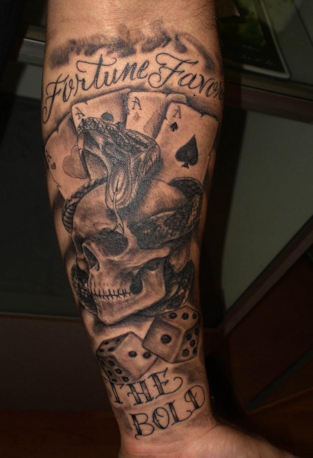 Horse n stars tattoo on back