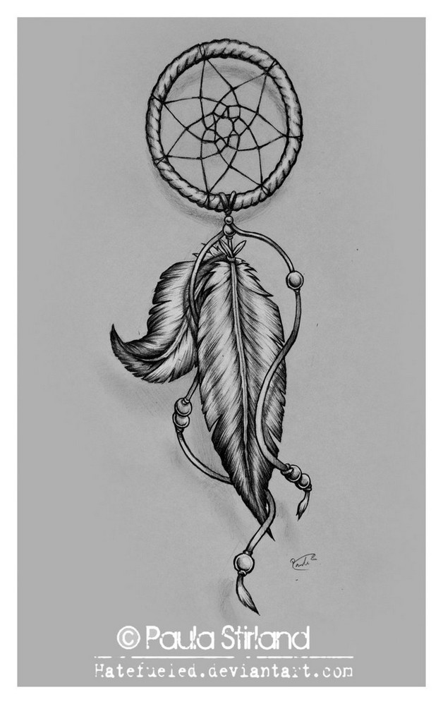 horse shoe dreamcatcher tattoo design photo - 2