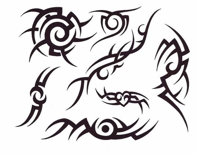 horseshoe flowers tattoo design photo - 2