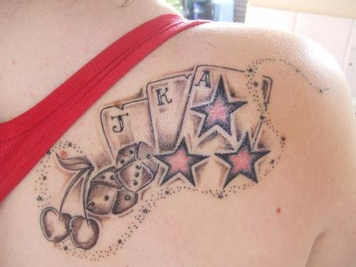 horseshoes stars tattoo design photo - 1