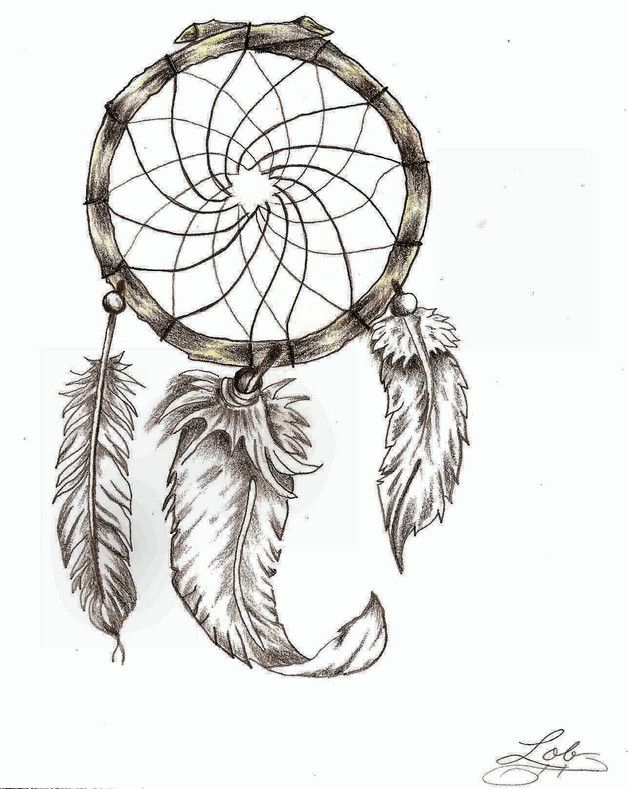 indian dream catcher tattoo on back for girls photo - 1