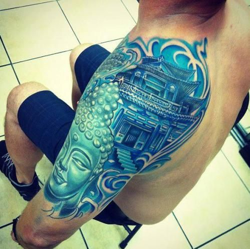 japanese buddhist tattoo design photo - 2
