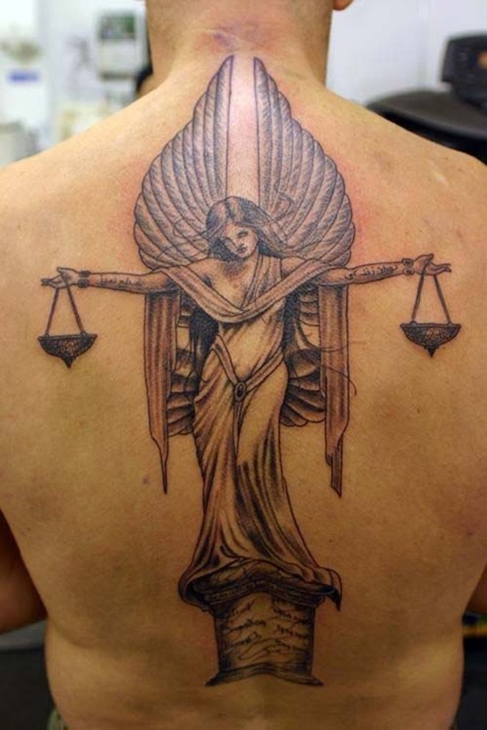 Justice star tattoo on lower back for Lower back tattoos for guys