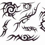 little black stars around pisces sign tattoos photo - 1