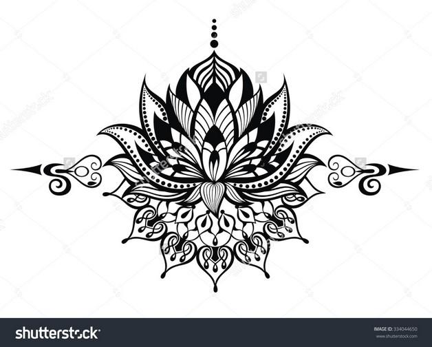 lotus flowers tattoo photo - 1