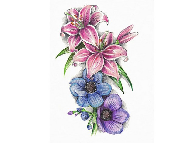 lower back sunflower tattoos for girls photo - 1