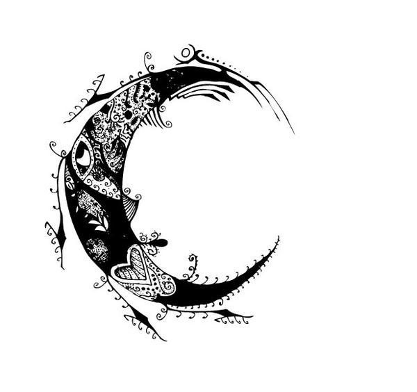 Moon and stars tattoo designs