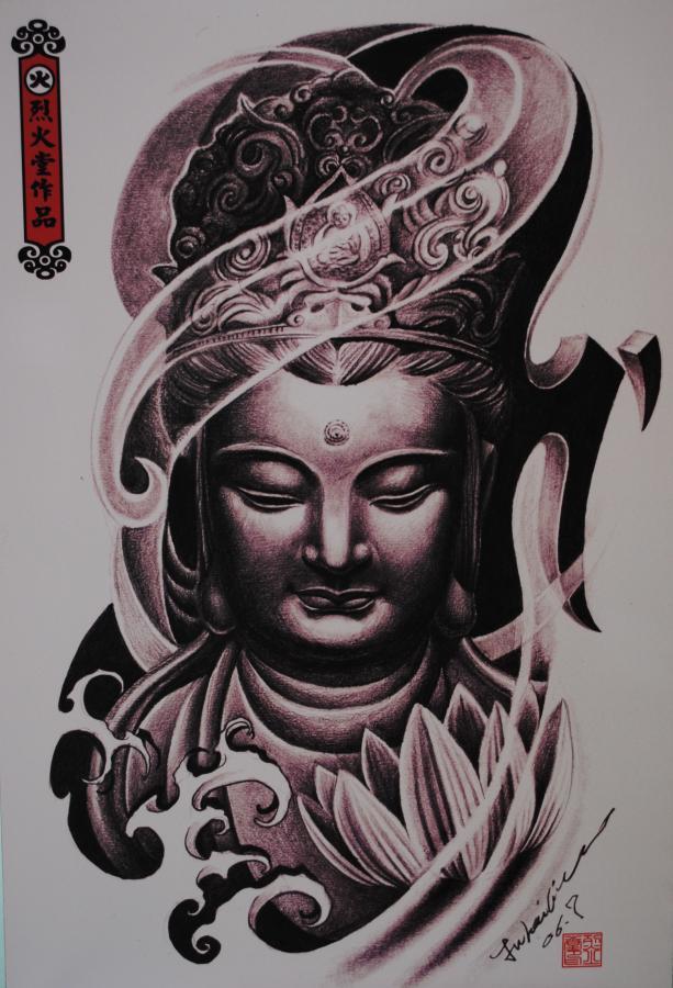 nice buddhist tattoo photo - 1