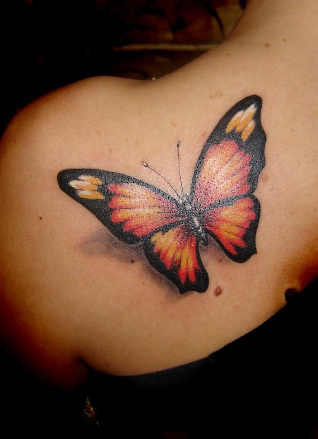 orange phoenix stars and leaves vine tattoo designs photo - 1