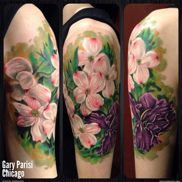 orchid flowers portrait tattoos photo - 1