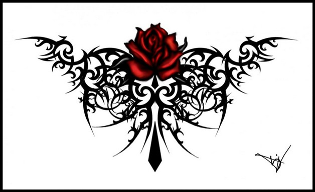 purple flowers and zodiac symbol tattoo designs photo - 1