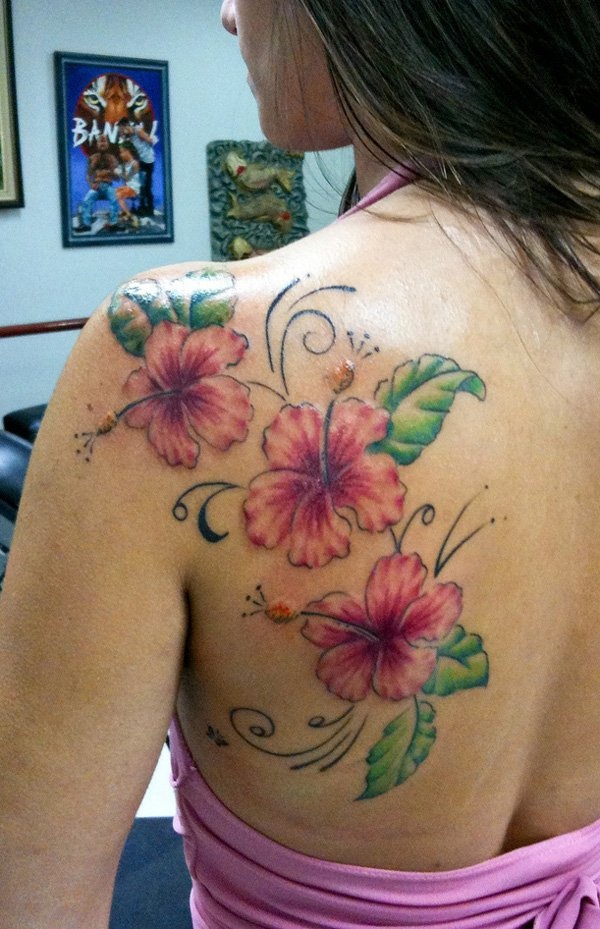 red tulip flowers tattoo