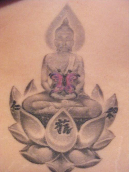religious buddhist lotus tattoo photo - 2