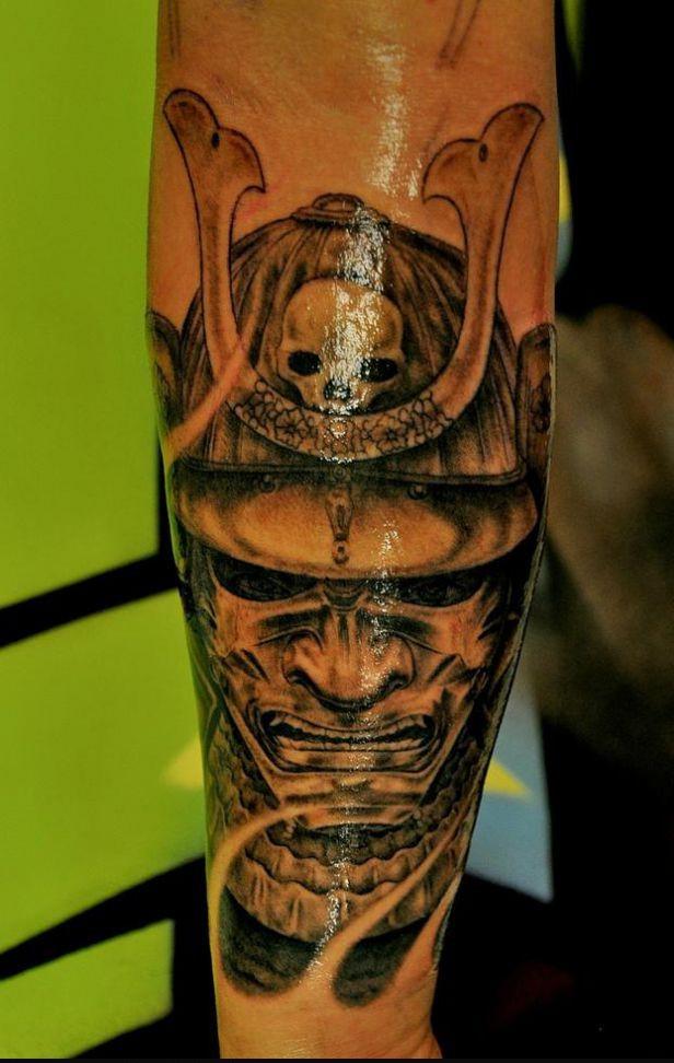 samurai buddhist tattoo design photo - 2