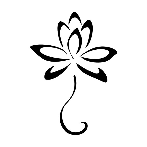 single outline star tattoo on back neck photo - 1