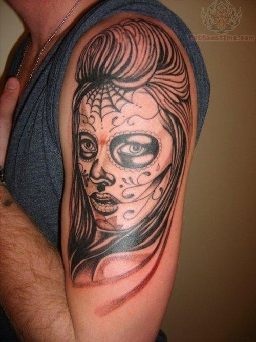 smoke gypsy and flowers neck tattoos photo - 2