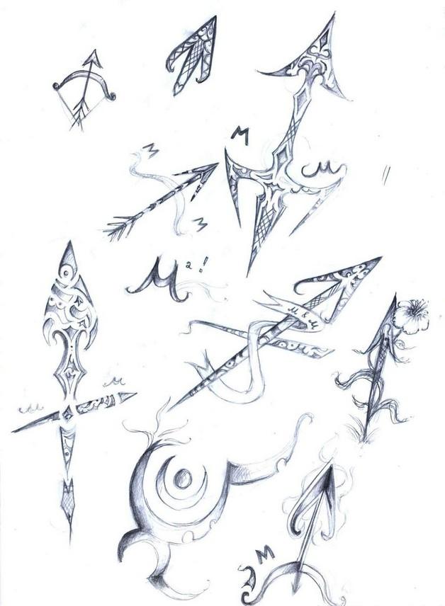 sparkling stars and sagittarius tattoos on chest. Black Bedroom Furniture Sets. Home Design Ideas