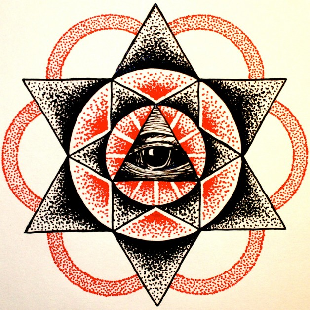 star tattoo design on hip photo - 2