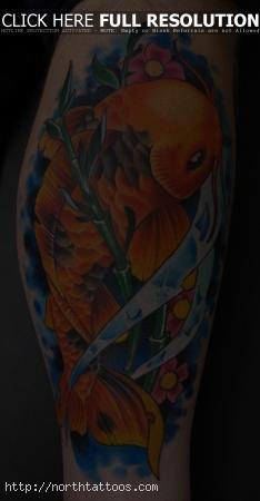 stars leg tattoo design photo - 1