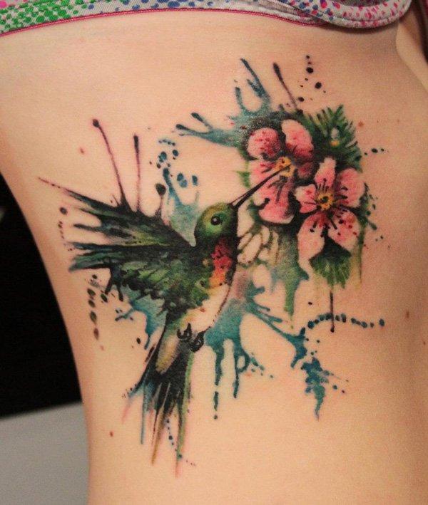 stars lotus and waves tattoo design photo - 2