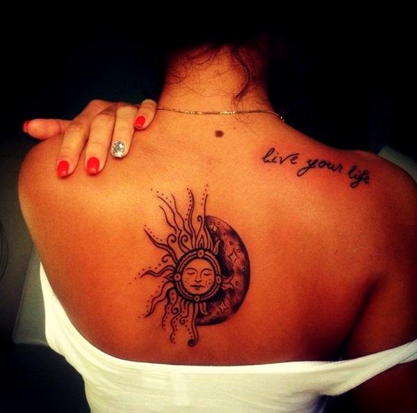 stars sun and moon tattoo designs. Black Bedroom Furniture Sets. Home Design Ideas