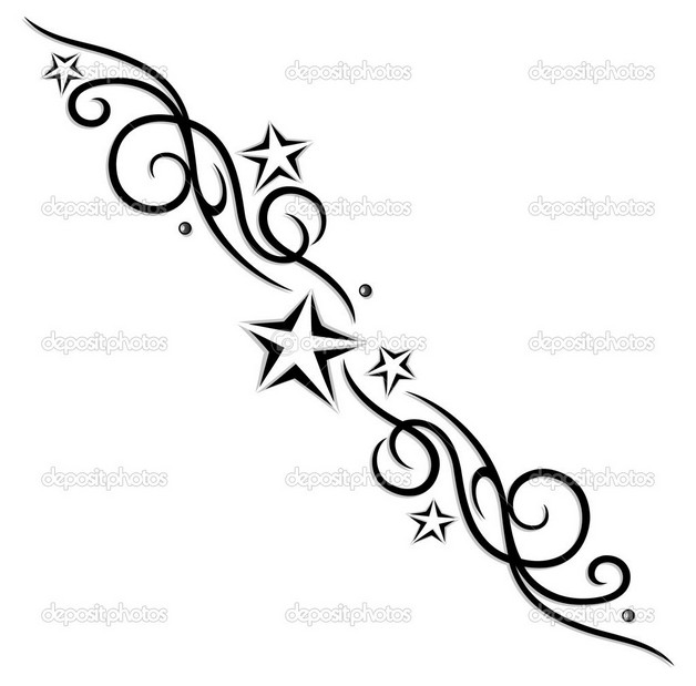 tattoo of moon and stars photo - 2