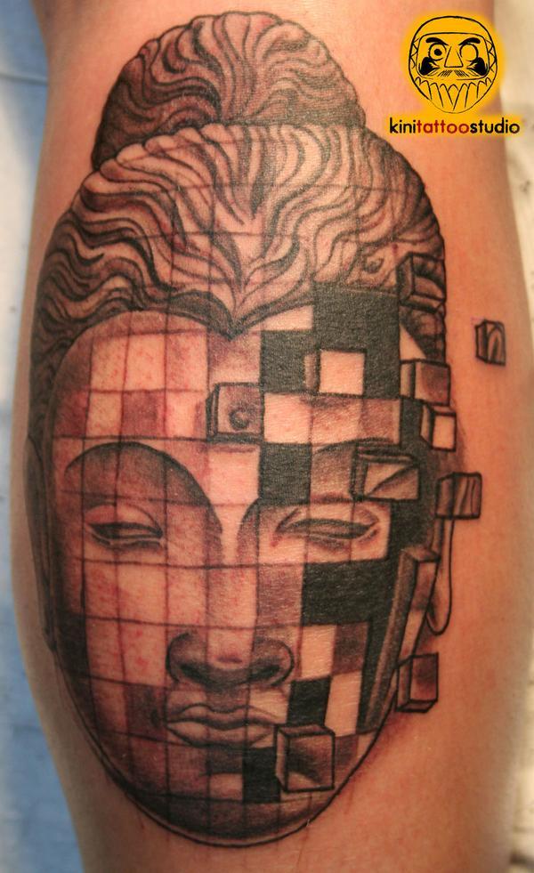 terrific buddhist lotus tattoo on muscles photo - 2