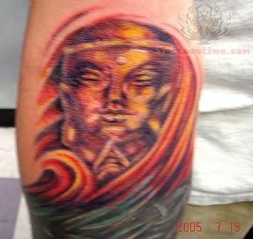 terrific buddhist tattoo photo - 2
