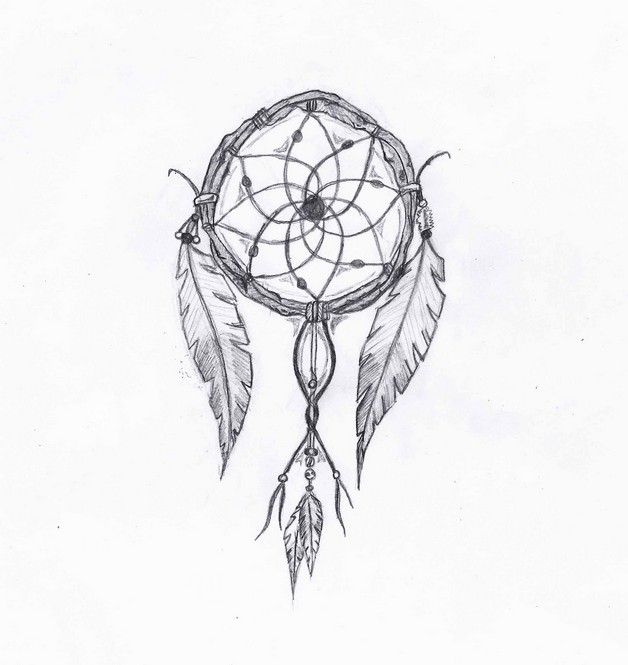How To Draw A Simple Dream Catcher Terrific dream catcher tattoo drawing 31