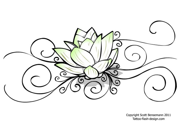 tremedous buddhist lotus tattoo design photo - 1