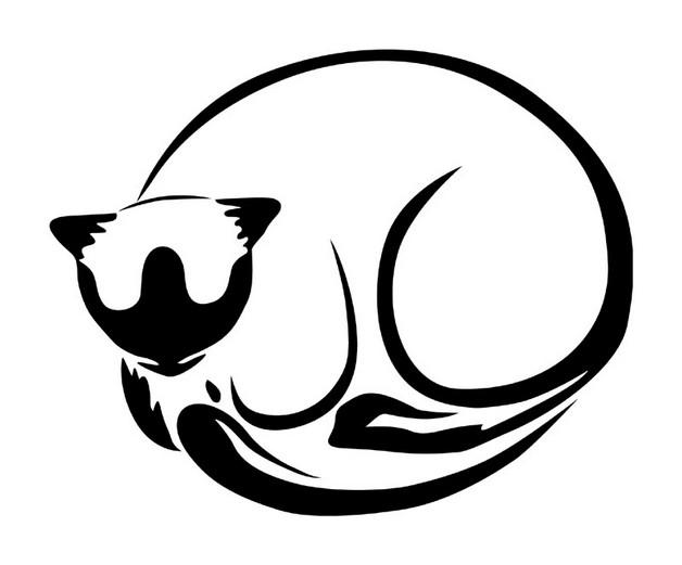 tremendous cat tattoo design photo - 1