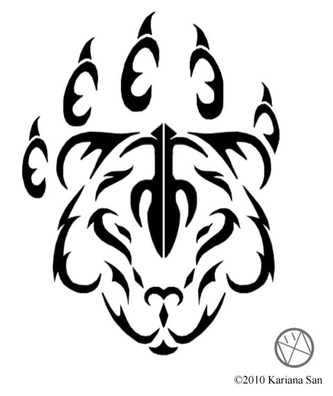 tribal cat tattoo sample photo - 2
