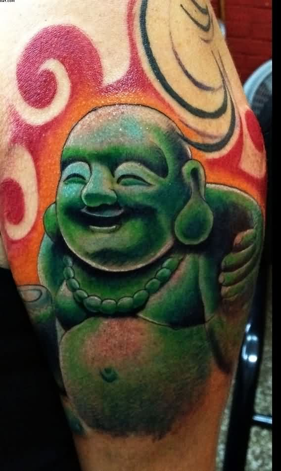 tribal religious buddhist tattoo sample photo - 2
