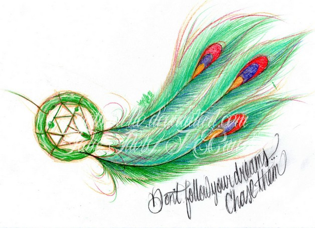 very lovely dream catcher tattoo design photo - 1