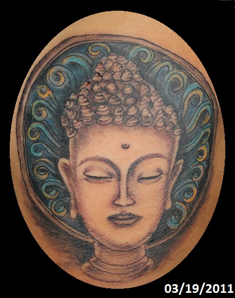 wonderful buddhist tattoo photo - 2